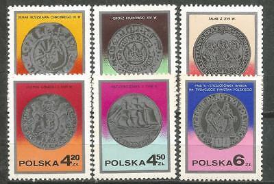 Briefmarken Ehrlich Polen Poland Scott # 2236-2241 Mnh Münzen Der Tag Der Briefmarke 1977 Attraktiv Und Langlebig