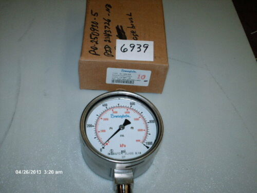 """Swagelok S//S Pressure Gauge P//N PGI-100S-OG1000-LAPX 1000 PSI 1//2/"""" NPT NIB"""