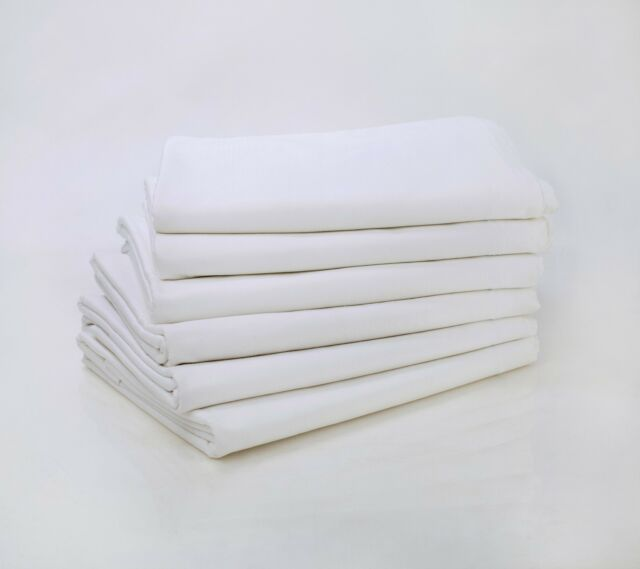 1 NEW WHITE T180 FULL FLAT SHEET WITH 2 PILLOWCASE PERCALE FREE UPGRADE TO T200