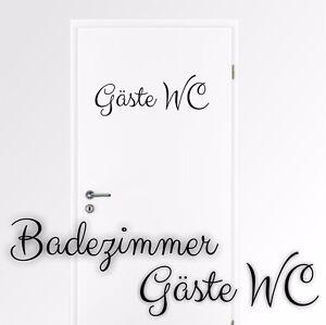 Details zu Wandtattoo Badezimmer Gäste WC Wandsticker Wandaufkleber  Toilette KW029