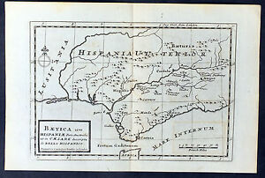 1764-Moll-Antique-Map-of-Andalusia-Spain