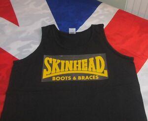 Skinhead Boots /& Braces T Shirt VEST GREY .