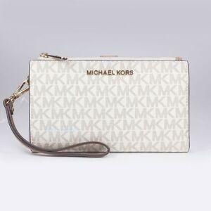 Michael Kors Jet Set Travel Double Zip Wrist Wallet