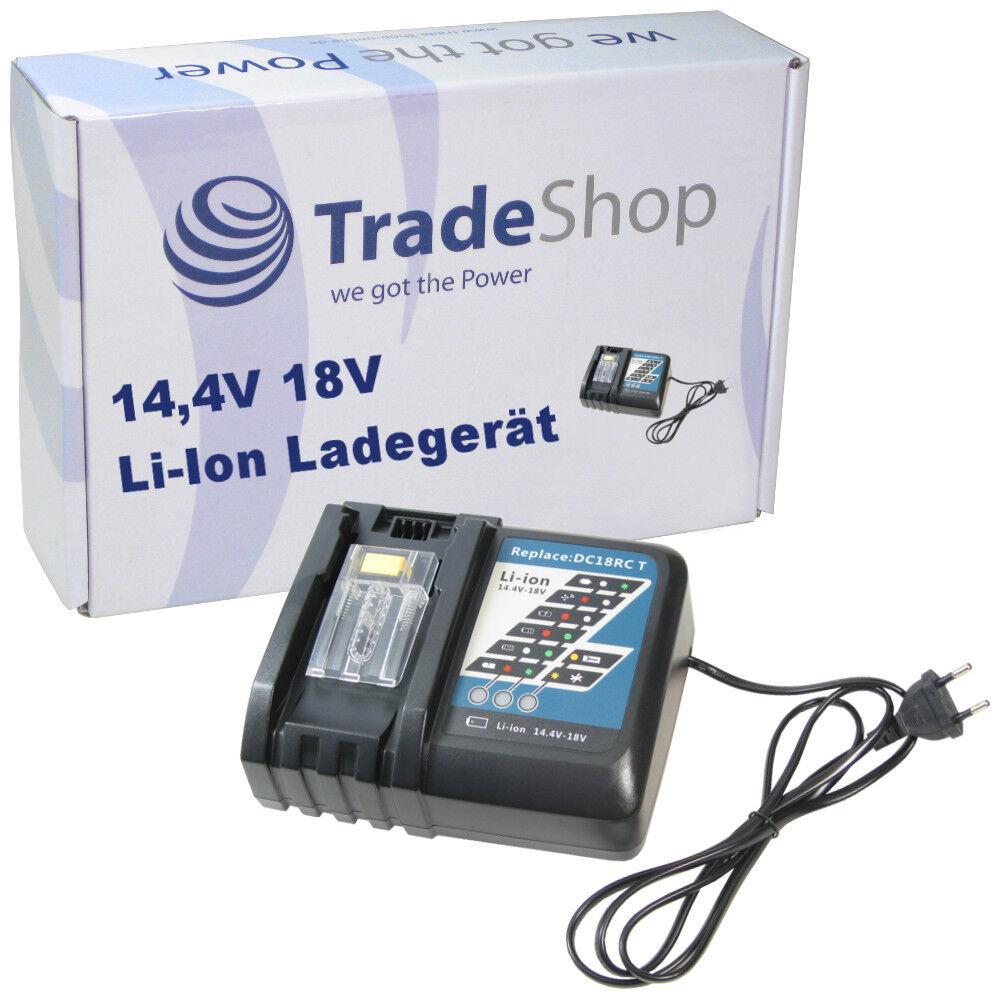 Trade-Shop Akku Ladegerät 14,4V-18V Li-Ion für Makita BCS550 BCS550F BCS550RFE
