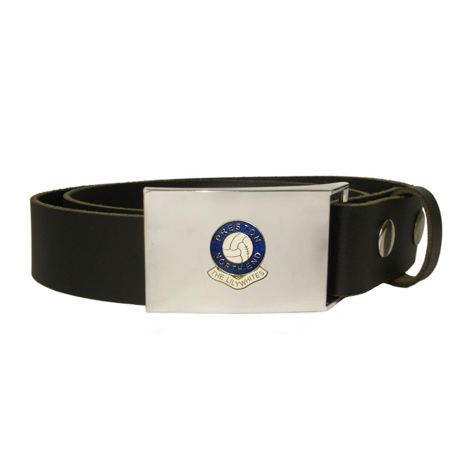 Preston North End football club leather snap fit belt