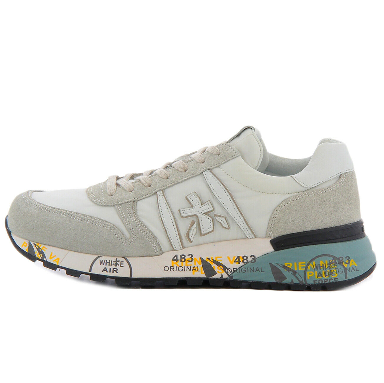 Premiata scarpe da ginnastica bianca LANDER 3827 con dettagli ghiaccio per uomo Premiata LAND