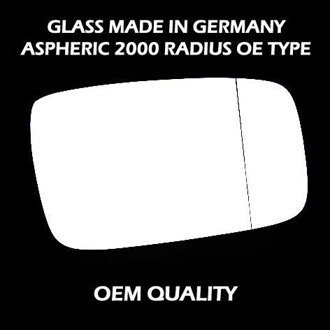 asphérique 1990 To 1997 Volvo 940 aile miroir verre avec base-chauffée RHS argent