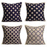 Cotton Linen Geometric Pillow Case Waist Throw Cushion Cover Home Sofa Decor
