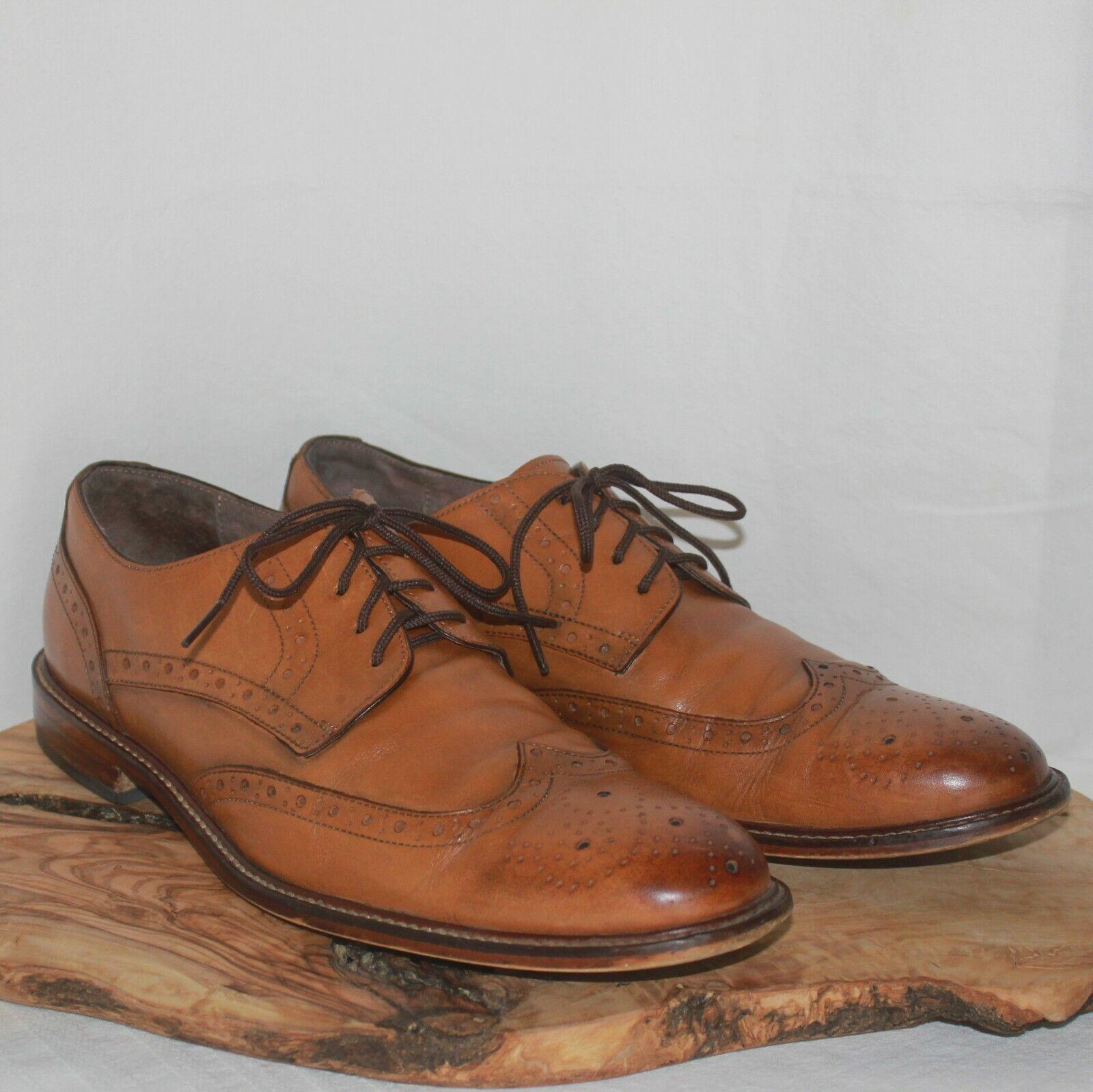 Joseph Abboud Cap Toe Oxfords Size 9.5 Men's - Tan/Beige