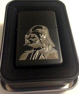 Darth-Vader-Star-Wars-Black-Engraved-Cigarette-Metal-Lighter-Biker-Gift-LEN-0111