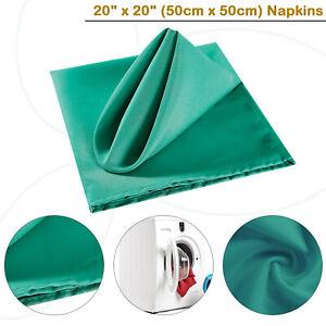 Rouge-Uni-Polyester-Serviettes-Noel-Table-De-Mariage-Tissu-Doux-1pc-a-12pcs
