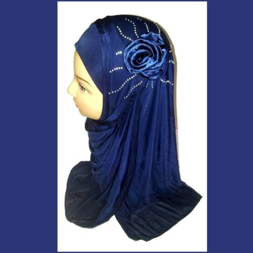 Kopftuch Strass Islam Kopfbedeckung Jadeed Muslima Hijab Tuch Khimar Niqab Rose