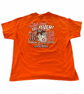 Clemson-Tigers-VS-Georgia-Bulldogs-Football-Men-039-s-T-Shirt-2XL-Orange-A9wl