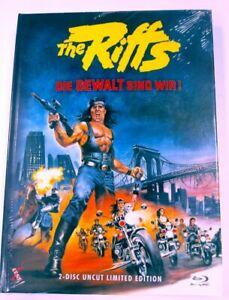 The-Riffs-I-Guerrieri-Del-Bronx-Limited-222-Mediabook-Cover-C-DVD-Blu-Ray