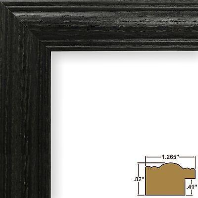 """Craig Frames Biltmore Ash 440, 1.25"""" Black Hardwood Picture Frame"""