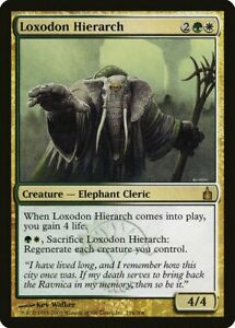 Loxodon Hierarch Ravnica City of Guilds NM White Green Rare MTG CARD ABUGames