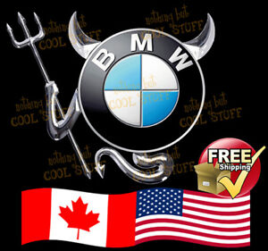 BMW ~ New 3D Gold , Red  or Chrome Devil Decal Sticker For Car Emblem Logo