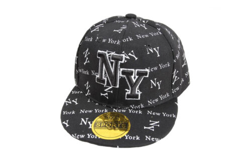 One Size Fast Post 5 Colours Childrens NY Baseball Snapback Cap