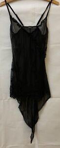 Tuttointimo-black-Camisole-Top-sleepwear-nightwear-size-M