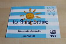 140786) Peugeot 106 306 405 - Summertime - Prospekt 06/1994