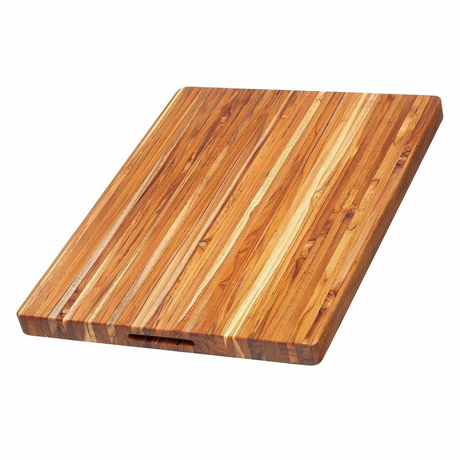 - NEW - Teak Cutting Board - Rectangle Carving Board W Hand Grip 24 x 18 x 1.5