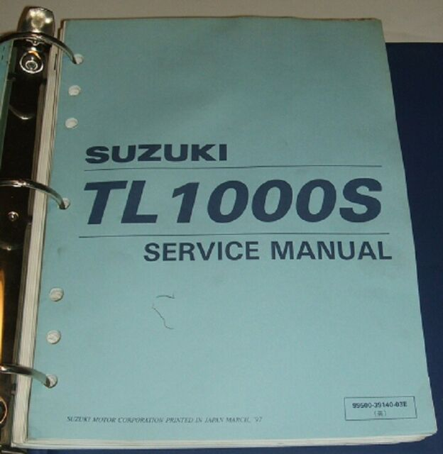 1997 Thru 2001 Suzuki Tl1000s Tl 1000s 1000 Service Repair Manual  U0026 Parts Guide
