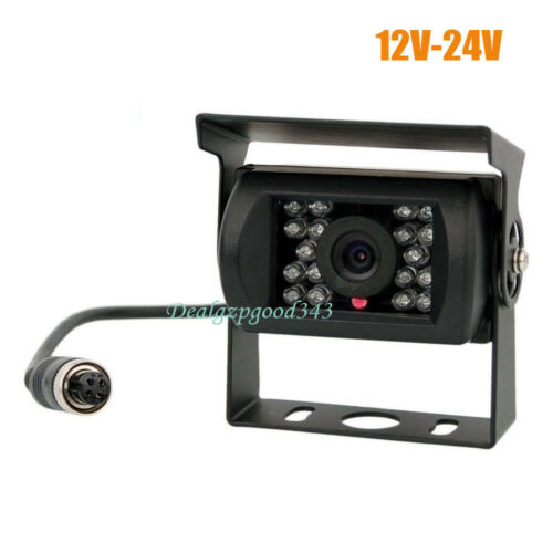 4Pin 18 LED IR HD Car Rear View Reversing Backup Camera for RV Bus Truck 12V-24V