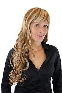 Details Zu Aufregend Gesträhnte Sehr Lange Damenperücke Blondmix Pony Locken Bro 726 27613