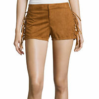 Boom Boom Jeans Lace-up Faux-suede Shorts Size 5, 7 Msrp $36.00