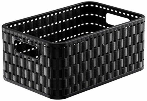 schwarz Kunststoff Rotho Country Aufbewahrungskorb 4 l in Rattan-Optik PP 4