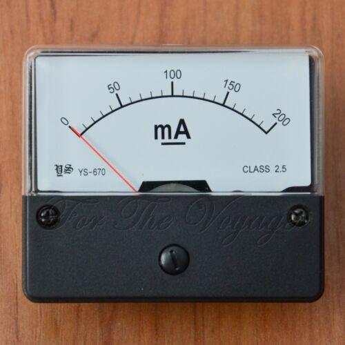 0-200mA DC Ammeter Amp Panel Meter  Analogue Analog NEW