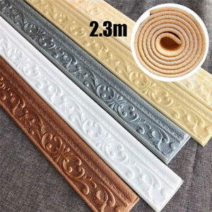 Wallpaper Sticker Waterproof Home Skirting Border 3D Self-Adhesive DIY Decor UK