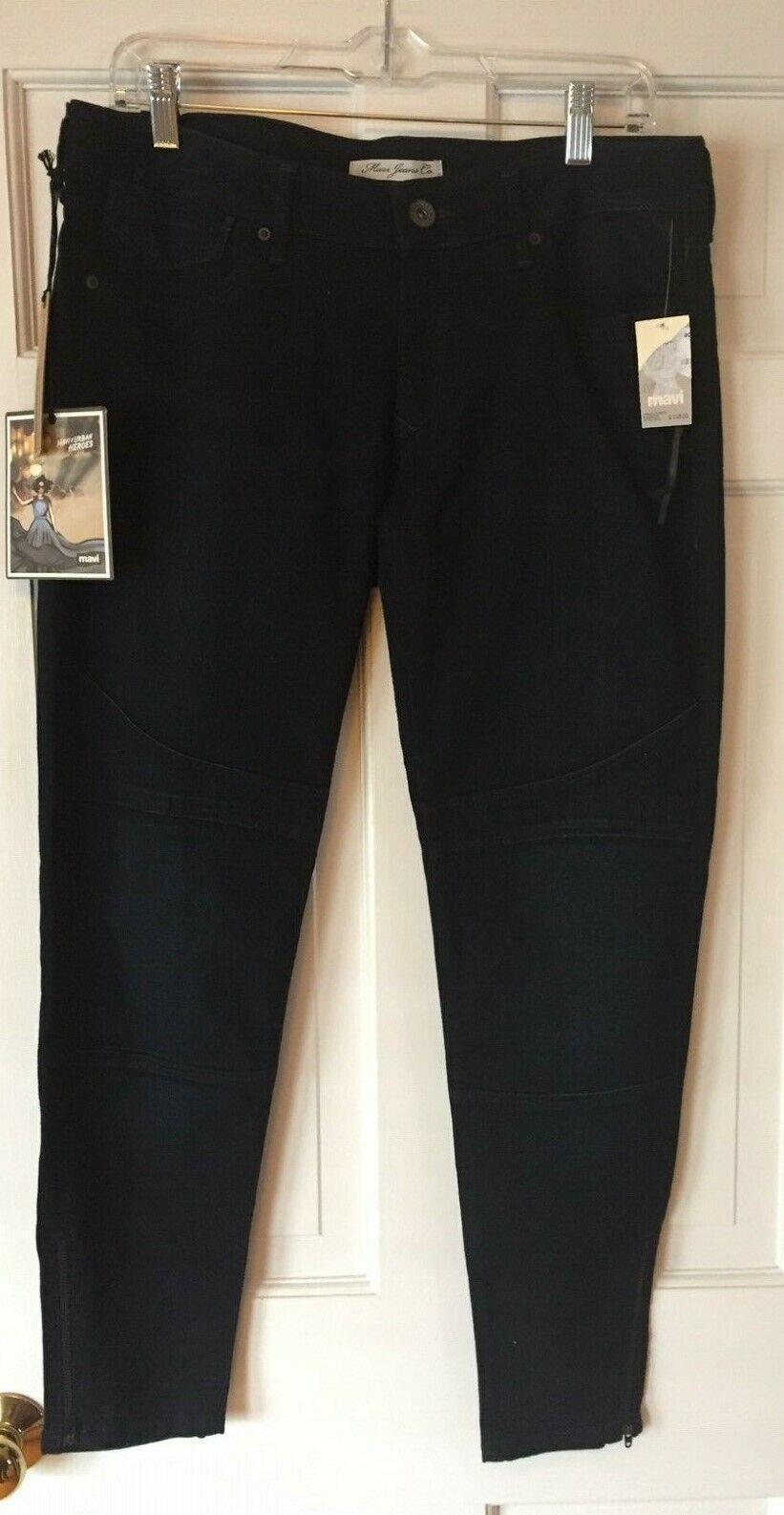 NEW MAVI Turkey Designer Ankle Zip Skinny Stretch Jeans Front Seam Detail 32