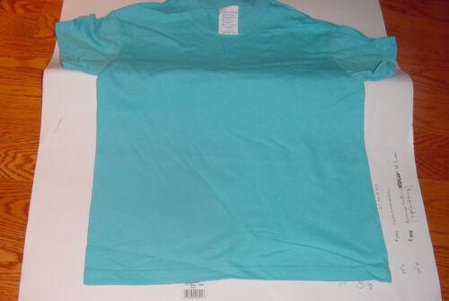 Plain Tee Shirt 100/% Cotton Medium 10//12 Youth NWOT Turquoise