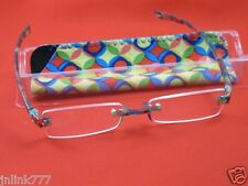 118:NEW Essentials Unisex Compact Reading Eyeglasses+Case-1.00
