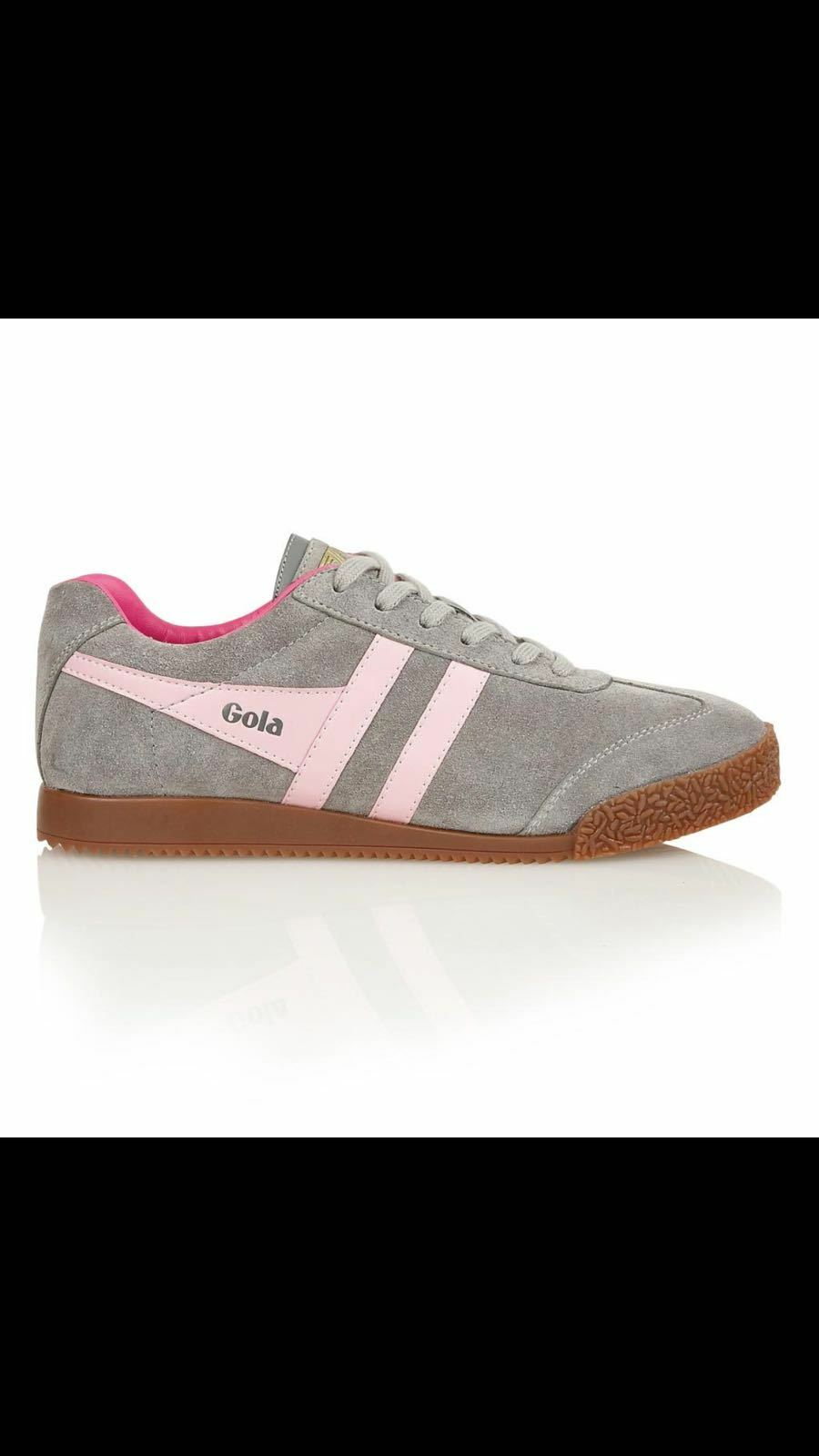 Gola classic women's harrier suede grey pink size 3