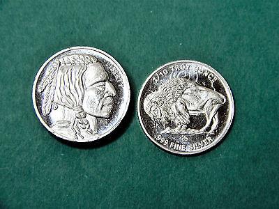 5-1//10 oz 999 Fine Silver Rounds Monarch BU Buffalo//Indian Design