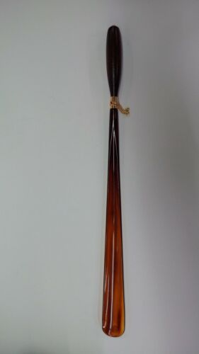 LONG SHOE HORN WITH WOOD HANDLE