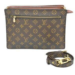 Louis-Vuitton-Enghien-M51205-Monogram-2way-Crossbody-Second-Clutch-Bag-Unisex-LV