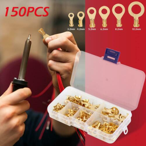150pcs Wire Cable Connector Crimp Terminal Electrical Non-insulated Kits