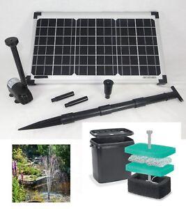 20 solar teichpumpe springbrunnen pumpe solarpumpe filter for Filtro per stagno
