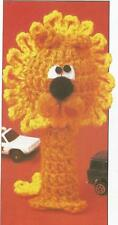Crochet Pattern ~ Finger Puppets Lion, Tiger & Zebra Kids Toy ~ Instructions