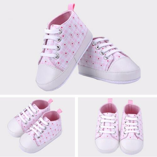 Cute Baby Infant Kids Girl Soft Sole Crib Toddler Newborn Shoes 0-18 months US