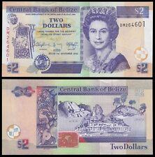 Belize 2 Dollars, 2014, P-66e, UNC, Queen Elizabeth II (QEII)