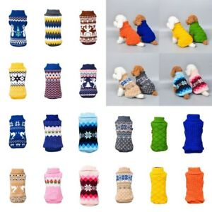 Pet-Cat-Dog-Knitted-Jumper-Winter-Sweater-Warm-Coat-Jacket-Puppy-Clothes-Apparel