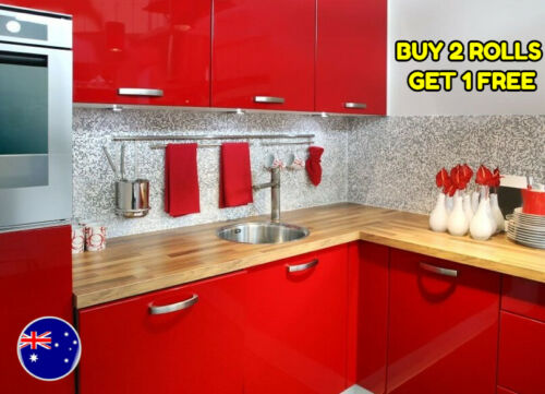 Details about  /Gloss Red vinyl Wrap for Wall Kitchen Cupboard Door 1.52M x 900M Film Sticker
