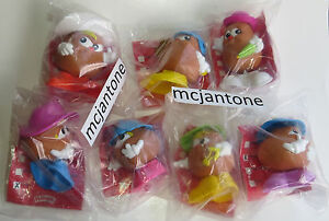 MIP-LOT-7-McDonald-039-s-1992-POTATO-HEAD-KIDS-Toys-NO-DUPES-Playskool-Spud-REGIONAL
