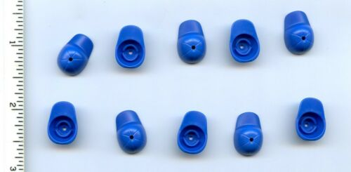 LEGO x 10 Blue Minifig Headgear Cap Short Curved Bill with Seams Baseball City