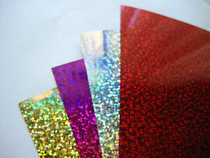 Multi Hotfix Iron on HolographicSequins PAPER Transfer Applique heat and bond
