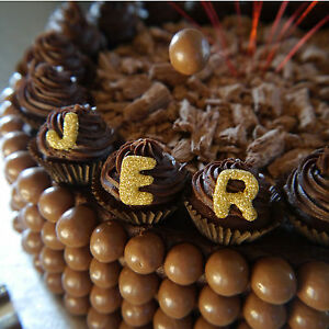 Cake Decorations Edible Numbers : Edible LETTERS NUMBERS 2cm Cupcakes Cakes Decoration Icing ...